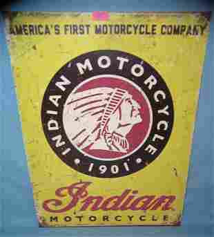 indian Motorcycle retro advertising sign
