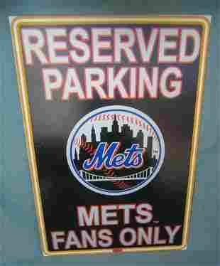 Mets Fans Only retro style advertising sign