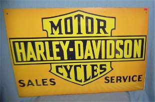 Antique style retro Harley Davidson advertising sign