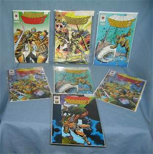 Collection of Armarines vintage comic books