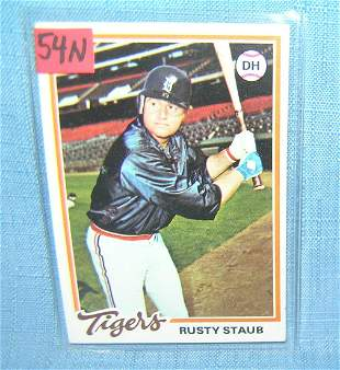 Rusty Staub vintage all star baseball card