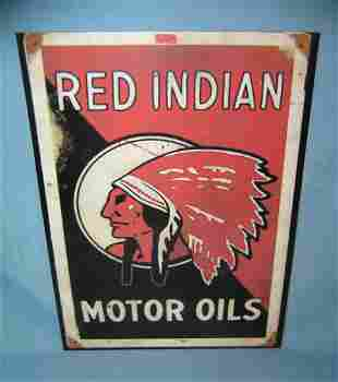 Red Indian motor oil retro style advertising sign