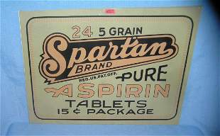 Spartan brand aspiren retro style advertising sign