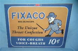 Fixaco throat convection retro style advertising sign