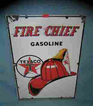 Texaco fire chief gasoline retro style advertising sign