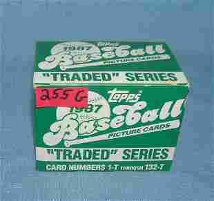 1987 Topps baseball traded card set