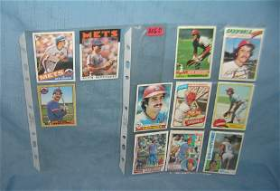 Collection of Kieth Hernandez all star baseball cards