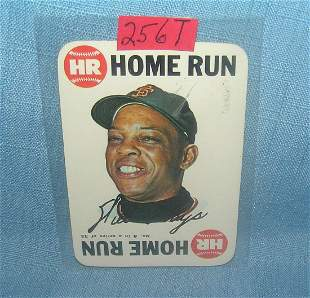 Willie Mays 1968 Topps home run series baseball card