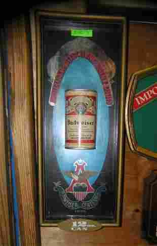 Budweiser 12 oz. can advertising display piece