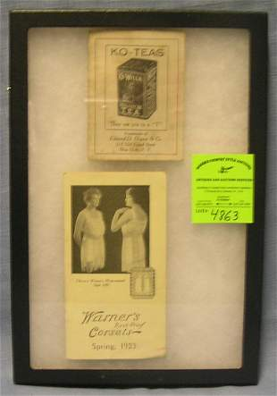 Pair of antique advertising brochures
