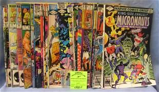 Vintage Marvel Micronauts comic books