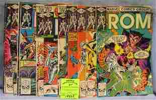 Large group of vintage Marvel ROM comic books