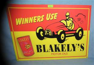Blakely's motor oils retro style advertising sign