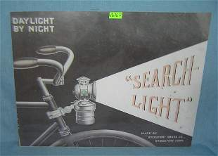 Bicycle search light retro style advertising sign