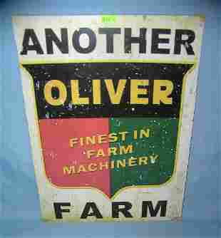 Finest Farm machinery retro style advertising sign