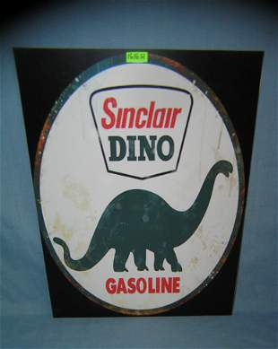 Sinclair Dino Gasoline retro style advertising sign