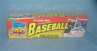 Topps 1991 factory sealed baseball card set