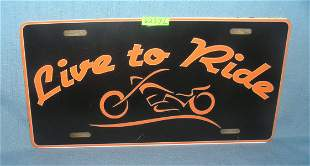 Harley Davidson License plate size retro style sign