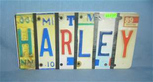 Harley License plate size retro style sign