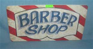 Barber Shop License plate size retro style sign