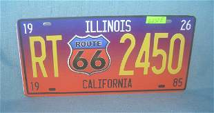 Route 66 License plate size retro style sign