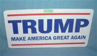 Trump retro style license plate size sign