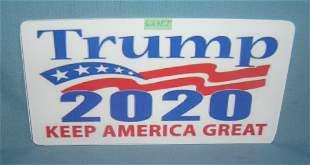 Trump 2020 retro style license plate size sign