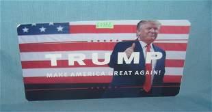 Donald Trump retro style license plate size sign