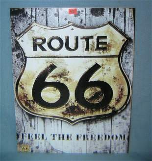 Route 66 Feel the Freedom retro style advertising sign