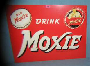 Drink Moxie retro style advertising sign