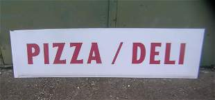 Pizza deli Lucite advertising sign 16x5