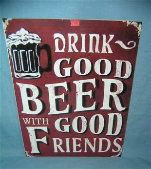 Drink Good Beer With Good Friends retro style sign