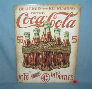Drink Coca Cola 12 by 16 inches retro style sign
