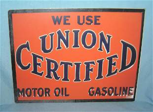 We use Union Certified motor oil retro style sign