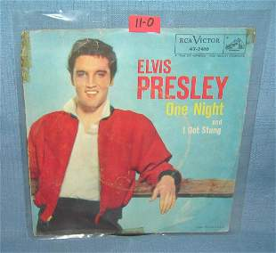 Elvis Presley early 45 RPM record and picture sleeve