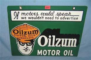 Oilzum Motor Oil retro style advertising sign