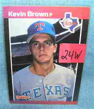 Kevin Brown rookie baseball card