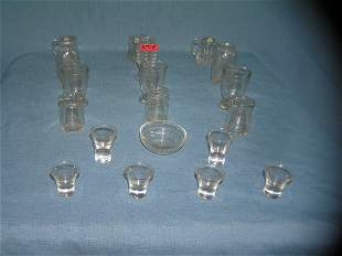 19 piece all glass high quality miniature set