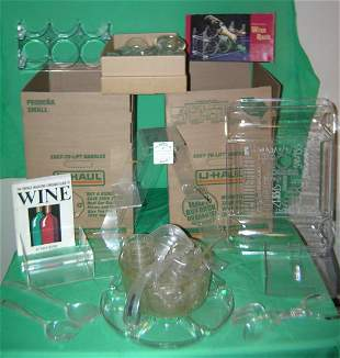 2 boxes full of vintage Lucite