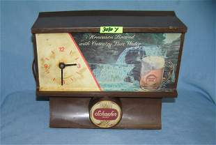 Vintage Schaefer Beer store display beer clock