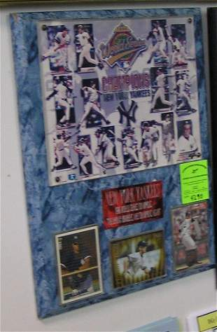 NY Yankees 1996 World Series wall plaque