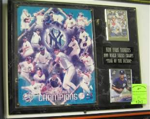 NY Yankees 1999 World Series wall plaque
