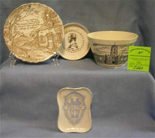 Group of four vintage souvenirs