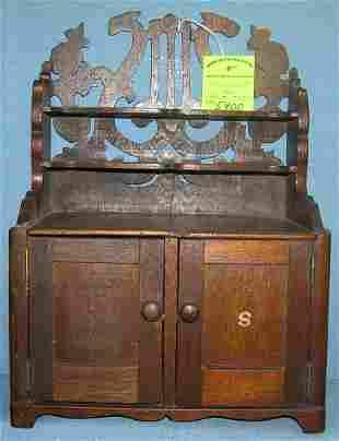 Antique oak kitchen hutch salesman sample