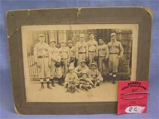 Early Outlaws baseball team photo
