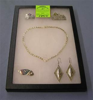 Collection of quality sterling silver jewelry