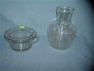 Pair of vintage American glassware serving pieces