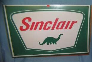 Antique style Sinclair gas and oil company sign