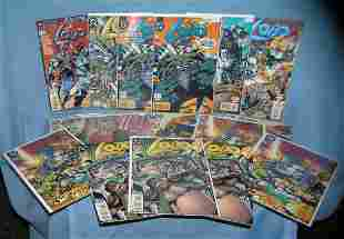Collection of vintage LOBO comic books