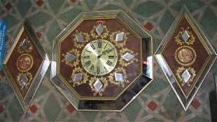 Empire 3 piece Mid Century modern wall clock